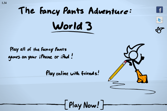 Fancy Pants Adventures World 3 - Play on Armor Games